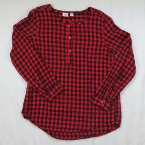 GAP Large 10 Husky Buffalo Plaid Tunic Shirt